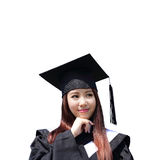 Happy graduate student girl Royalty Free Stock Image