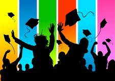 Happy graduate Students! Royalty Free Stock Photography