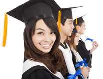 Happy  graduate students Stock Photography