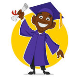 Happy graduate. Vector illustration. graduate with a diploma Stock Images