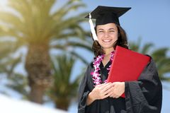 Happy graduate woman Royalty Free Stock Photo