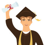 Happy graduate young man Royalty Free Stock Photography