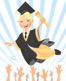 Happy graduated Royalty Free Stock Photos
