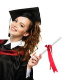 Happy graduated student girl Royalty Free Stock Images