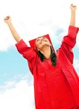 Happy graduated woman Royalty Free Stock Images