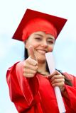 Happy graduated woman Royalty Free Stock Photography