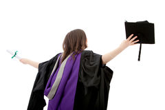 Happy graduated woman Stock Images