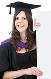 Happy graduated woman Royalty Free Stock Photos
