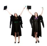 Happy graduated women Royalty Free Stock Photos