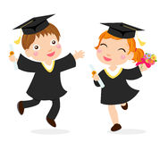 Happy graduates Stock Photography