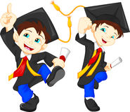 Happy graduates Stock Image