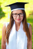 Happy graduating student royalty free stock images