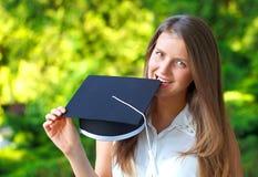 Happy graduating student stock photos