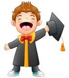 Happy graduation boy cartoon Royalty Free Stock Photography