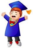 Happy graduation boy cartoon Royalty Free Stock Image