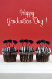 Happy Graduation Day party chocolate cupcakes Stock Image