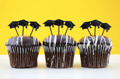 Happy Graduation Day party chocolate cupcakes Royalty Free Stock Photo