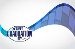 happy graduation day stamp modern background Stock Photos