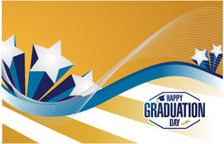 Happy graduation day stars card Royalty Free Stock Images