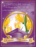 Happy Graduation greeting card also for print Stock Photos