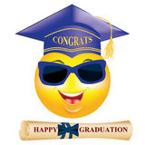 Happy Graduation greeting card Royalty Free Stock Photos