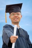 Happy graduation man Stock Image