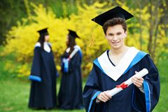 Happy graduation student Stock Photos