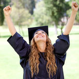 Happy graduation student Stock Photo