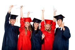Happy graduation students Stock Image