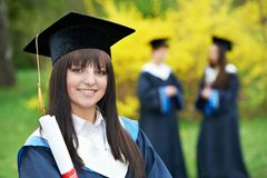 Happy graduation students Royalty Free Stock Photos