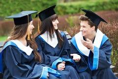 Happy graduation students Stock Photos