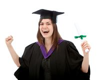 Happy graduation woman Royalty Free Stock Images