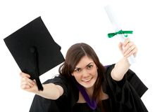 Happy graduation woman Royalty Free Stock Photo
