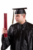Happy graduation a young man Royalty Free Stock Photo