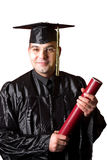 Happy graduation a young man Stock Photos