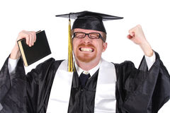 Happy graduation a young man Royalty Free Stock Photos