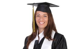 Happy graduation a young woman Royalty Free Stock Photo