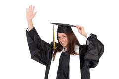Happy graduation a young woman Stock Image