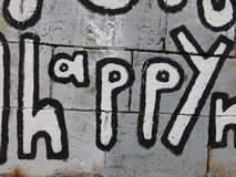 Happy Graffiti  Royalty Free Stock Photo