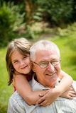Happy grandfather with grandchild Royalty Free Stock Photo