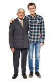 Happy grandfather and grandson Royalty Free Stock Photos