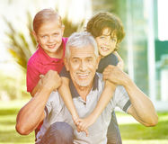 Happy grandfather Royalty Free Stock Photography