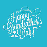 Happy Grandfather's day lettering Stock Images