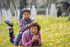 Happy Grandma And Grandson Royalty Free Stock Image