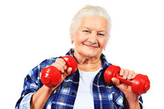 With dumbbells Royalty Free Stock Images