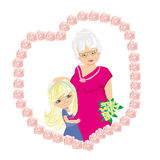 Happy Grandmas Day Royalty Free Stock Photos