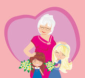 Happy Grandmas Day Royalty Free Stock Photo