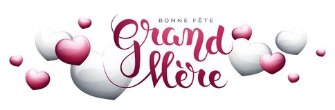 Happy Grandmother's day in French : Bonne fête Grand-Mère. Happy Grandmother's day in French : Bonne fête Grand-Mère. Vector illustration Royalty Free Stock Images