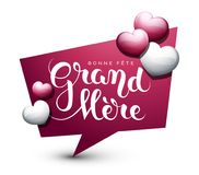 Happy Grandmother's day in French : Bonne fête Grand-Mère. Happy Grandmother's day in French : Bonne fête Grand-Mère. Vector illustration Royalty Free Stock Photo