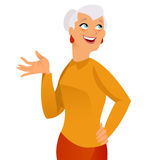 Happy grandmother. On white background Royalty Free Stock Photo